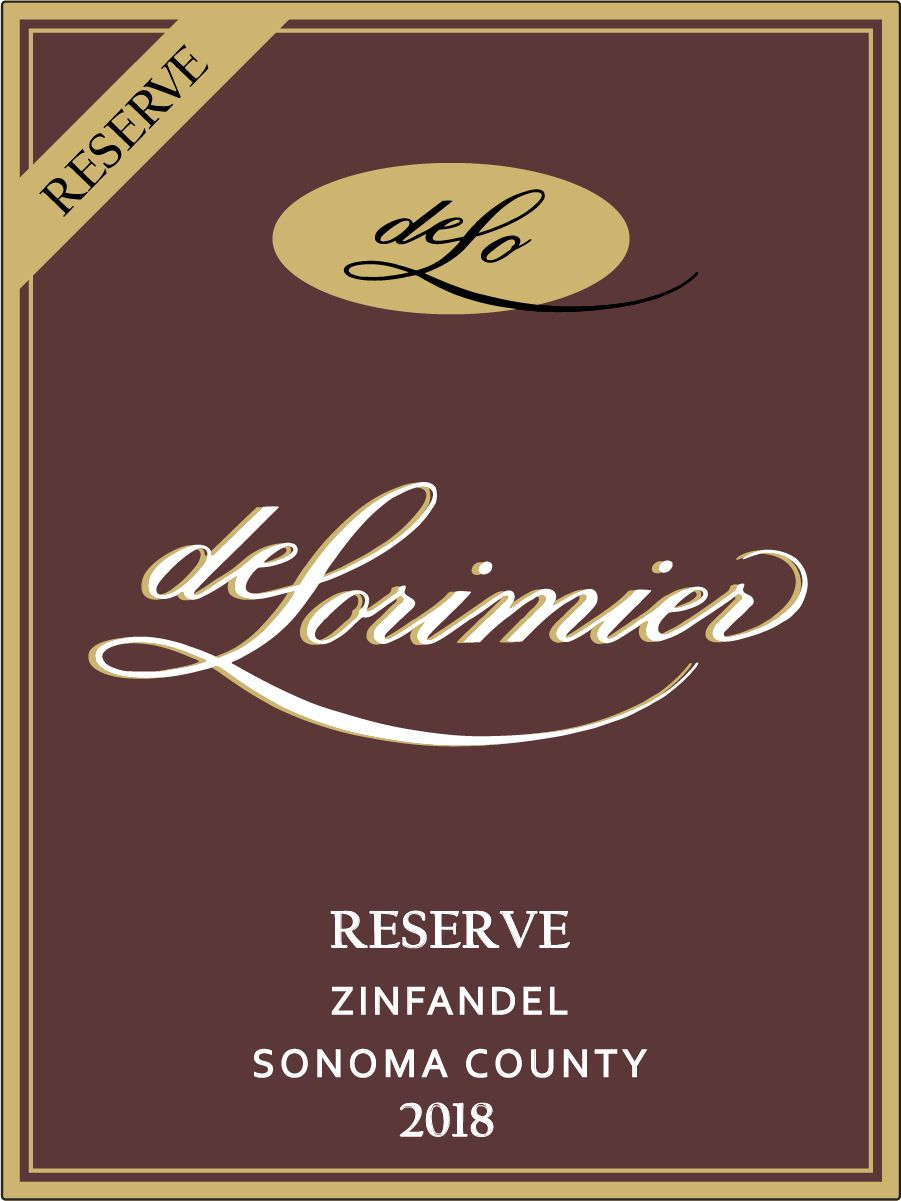 2018 Zinfandel, Sonoma County Reserve MAIN