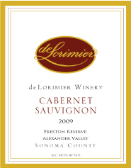 2009 Cabernet Sauvignon, Preston Ranch Reserve