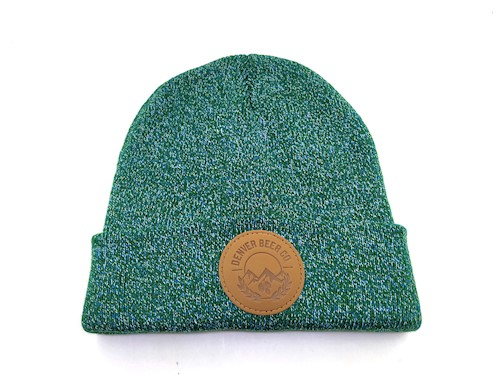 Denver Beer Co Leather Patch Beanie - Heather Green THUMBNAIL