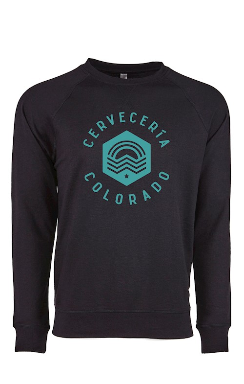 Cerveceria Colorado Unisex Crew Neck Sweatshirt with Vintage Logo THUMBNAIL