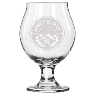 Denver Beer Co Belgian Style Stemmed Tulip Glass THUMBNAIL