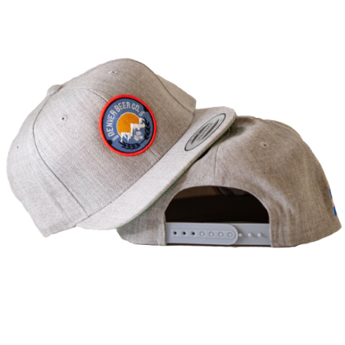 Denver Beer Co Flat Brim Hat - Gray THUMBNAIL