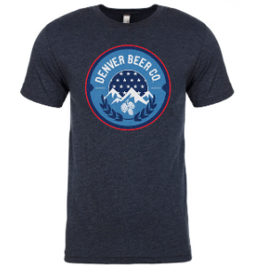 ------ONLINE ONLY------ Denver Beer Co Men's Crew Neck with America Logo THUMBNAIL