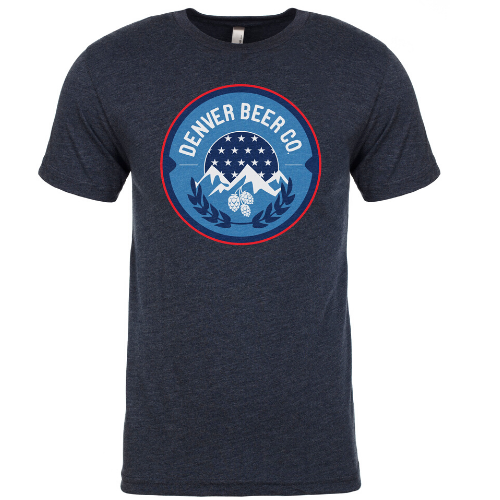 ------ONLINE ONLY------ Denver Beer Co Men's Crew Neck with America Logo MAIN