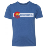 Denver Beer Co Men's Crew Neck with Colorado Flag Logo SWATCH