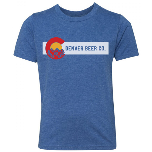 Denver Beer Co Men's Crew Neck with Colorado Flag Logo MAIN