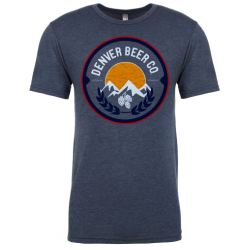 Denver Beer Co Men's Crew Neck with Classic Full Color Logo MAIN