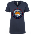 Denver Beer Co Women's V-Neck with Classic Full Color Logo SWATCH