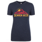 Denver Beer CO Women's Crew Neck with Mountain Sunset SWATCH