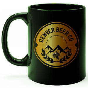 Denver Beer Co Coffee Mug - Green and Copper THUMBNAIL