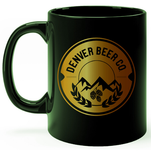 Denver Beer Co Coffee Mug - Green and Copper MAIN