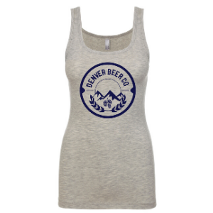 ------ONLINE ONLY------Denver Beer Co Tank Top with Navy Logo THUMBNAIL