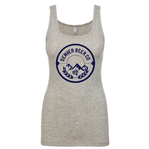 ------ONLINE ONLY------Denver Beer Co Tank Top with Navy Logo MAIN