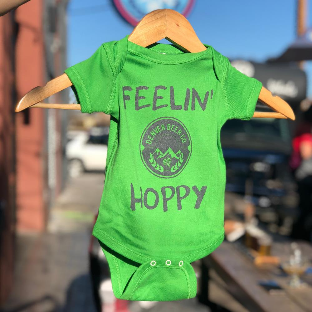 Denver Beer Co Baby Onesie - Green MAIN