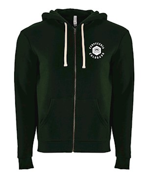 Cerveceria Colorado Embroidered Zip Hoodie - Forest Green MAIN