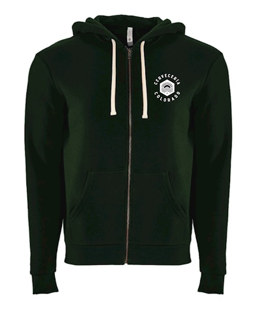 Cerveceria Colorado Embroidered Zip Hoodie - Forest Green THUMBNAIL