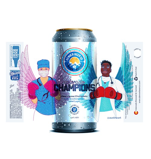 *Colorado Champions Cucumber Lime Lager (32 Oz. Crowler) THUMBNAIL