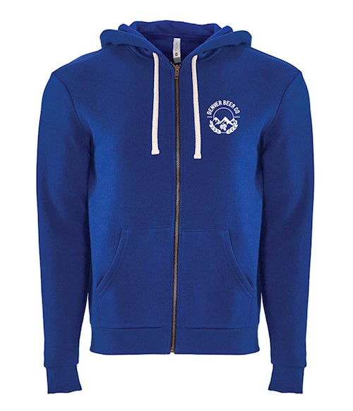 Denver Beer Co Embroidered Zip Hoodie - Royal Blue THUMBNAIL