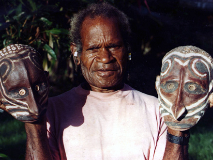 Skull Art in Papua New Guinea