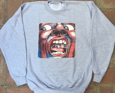 Sweatshirt - Vintage In the Court of the Crimson King (Grey) MAIN