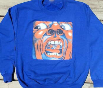 Sweatshirt - King Crimson -   In the Court of the Crimson King (Blue)