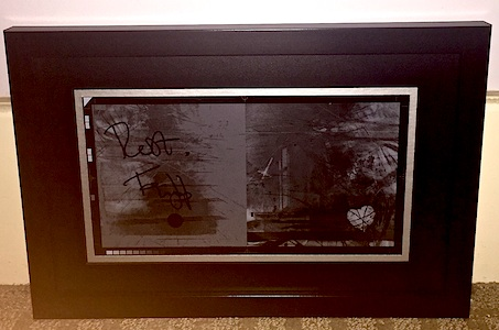 Holy Relic 17: Autographed & Framed Film for Sometimes God Hides LARGE