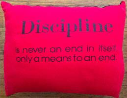 Pillow - Discipline (Red)