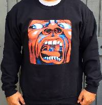 Sweatshirt - King Crimson -   In the Court of the Crimson King (Black)