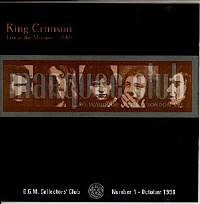 King Crimson - CC - Live at The Marquee 1969 THUMBNAIL