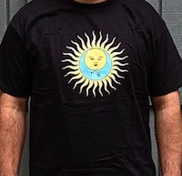 T-Shirt - Larks' Tongues in Aspic (black with no text) THUMBNAIL