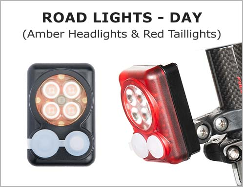 Road Lights(Day)-Amber Headlights & Red Taillights