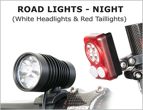 Road Lights(Night)-White Headlight & Red Taillight