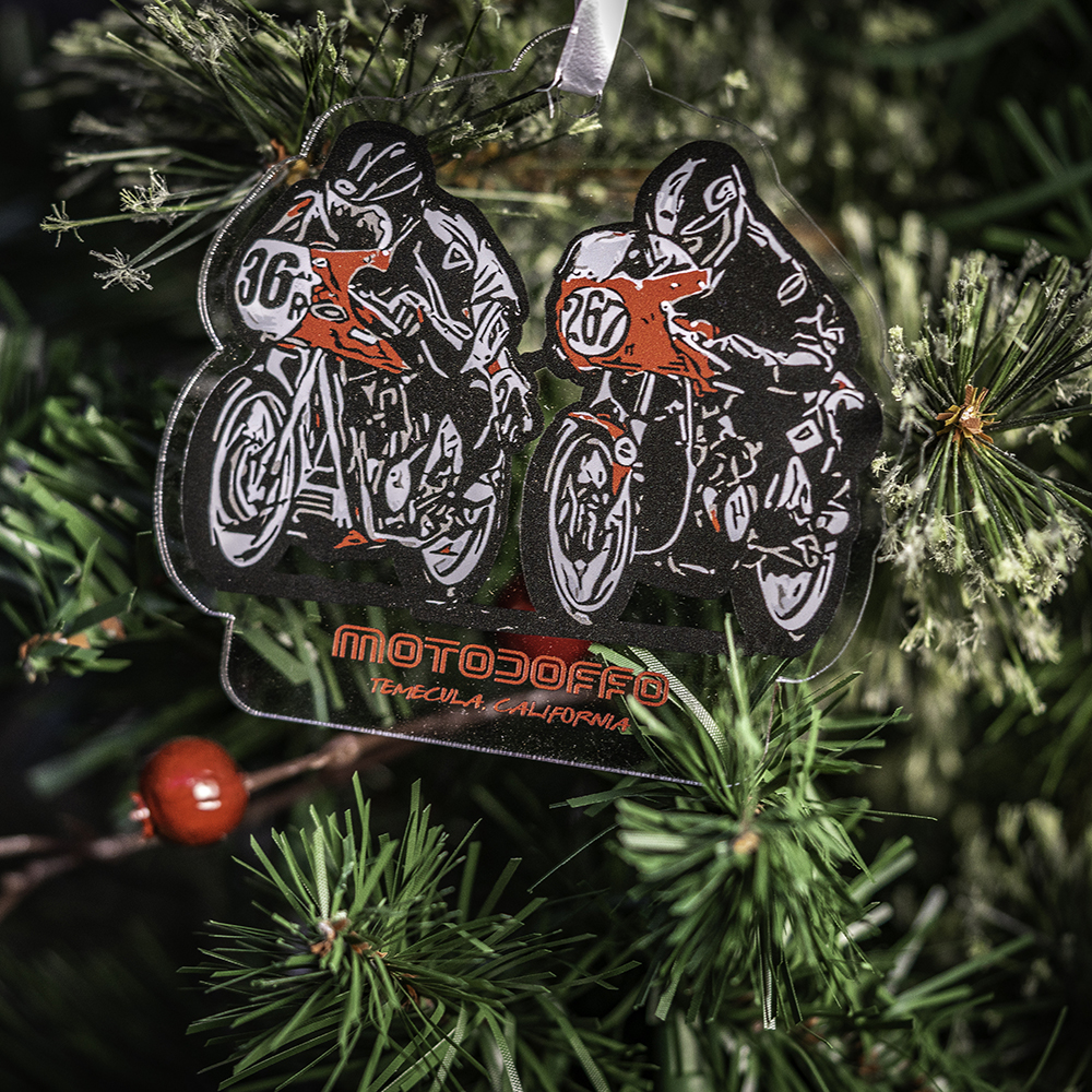 MotoDoffo Father & Son Ornament THUMBNAIL