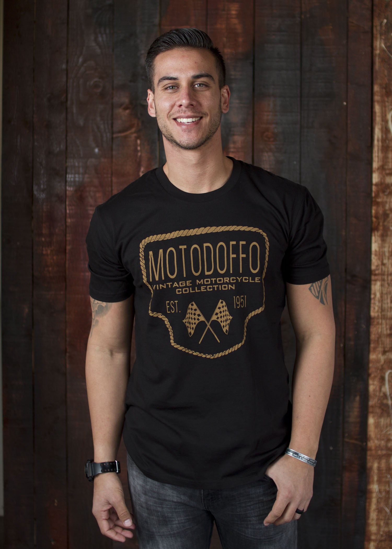 MotoDoffo T Shirt Black w/ Rope