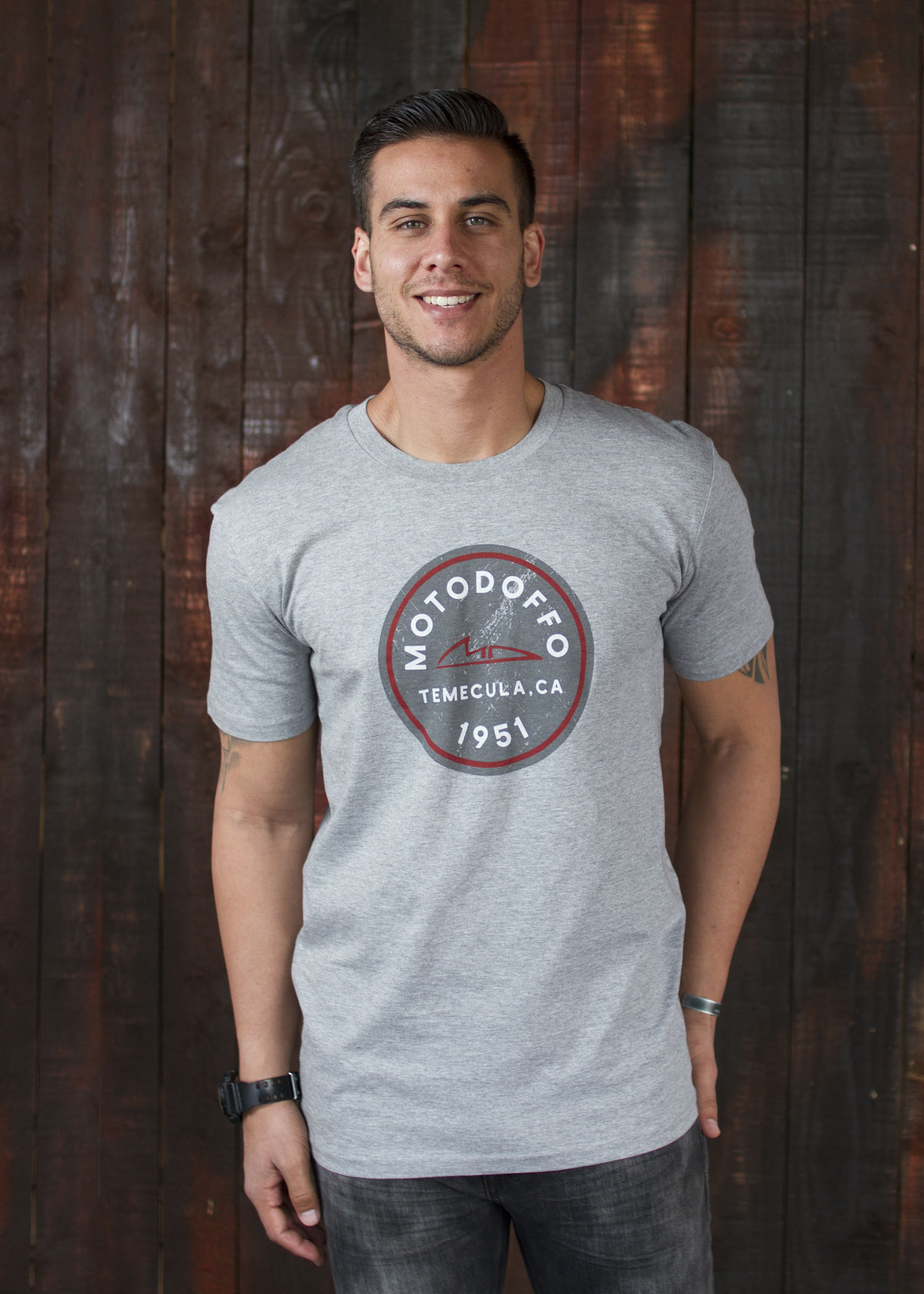 MotoDoffo T Shirt Grey Seal