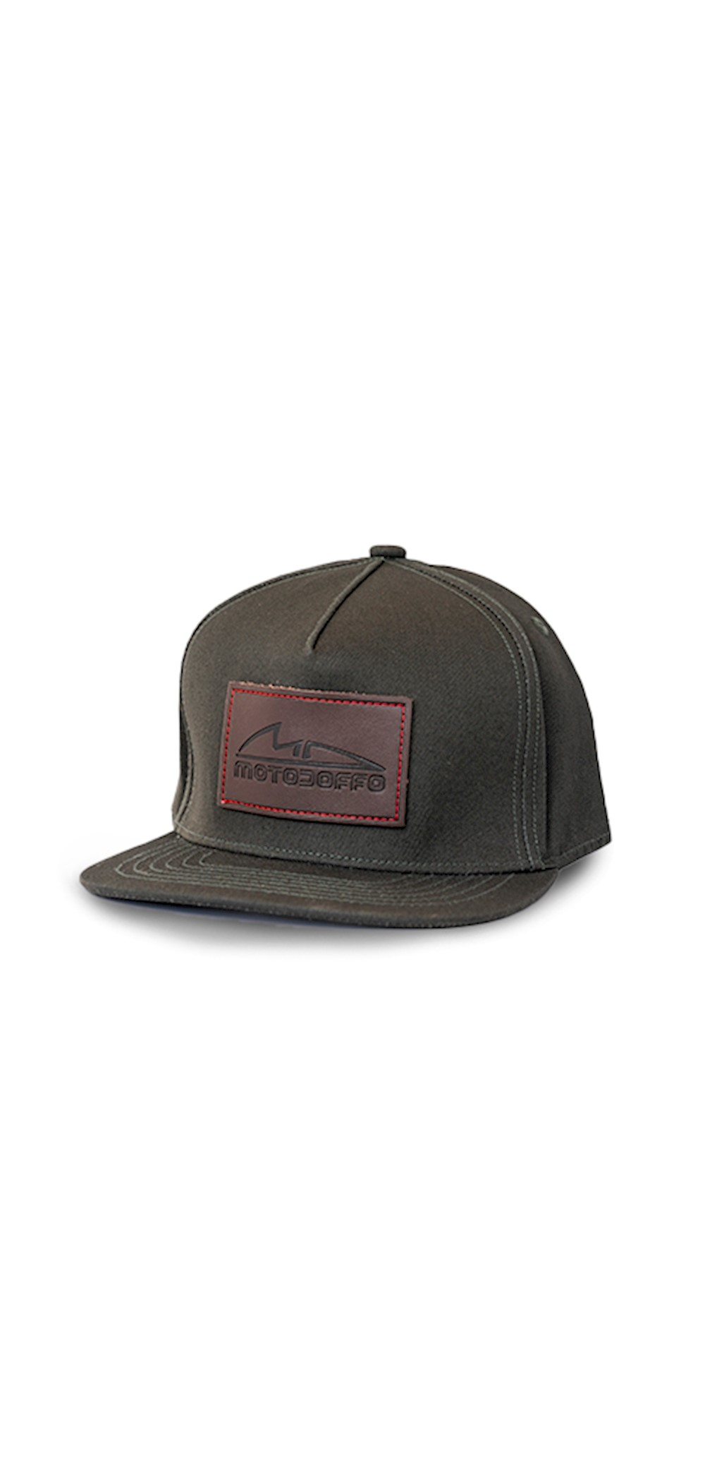 MotoDoffo Leather Patch Fitted Hat THUMBNAIL