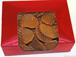 Chocolate Covered Potato Chips in Holiday Box