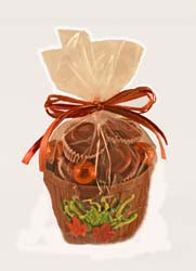 Hand-crafted chocolate gift for fall