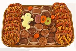 Autumn Party Tray with Pretzels