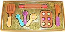 Hand-painted Chocolate Baker's Kit