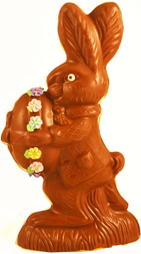 Cute Bunny Holding Egg (Solid Chocolate) MAIN