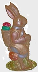 Hand-painted chocolate Easter Bunny