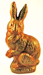 Semi-Solid Victorian-Style Chocolate Rabbit,