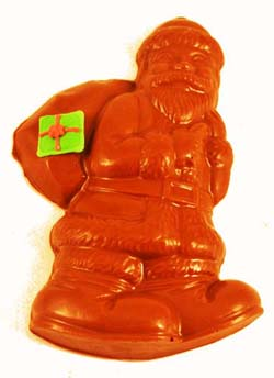 Solid chocolate Santa with Sack