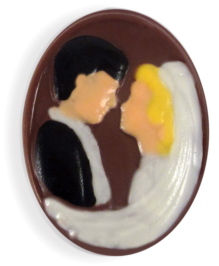 Bride & Groom Cameo Set of 25 THUMBNAIL