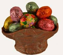 Tiny Chocolate Basket with Foiled Chocolates THUMBNAIL