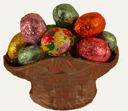 Tiny Chocolate Basket with Foiled Chocolates