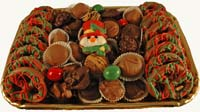 Party trays laden with chocolates hand crafted by artisans