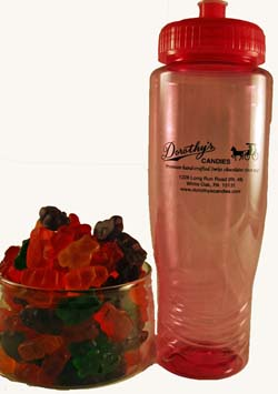 Tropical Gummi Bears in Sports Bottle