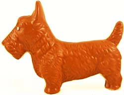 Solid chocolate Scottish Terrier for Easter MAIN